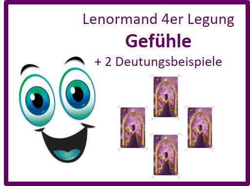 Lenormand 4er Legung Gefuehle