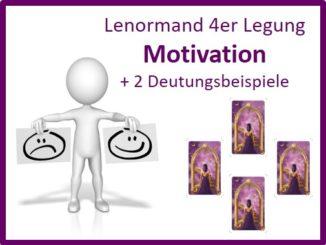 Lenormand 4er Legung Motivation