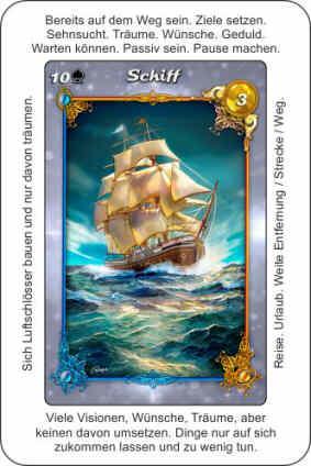 Lenormandkarte Schiff