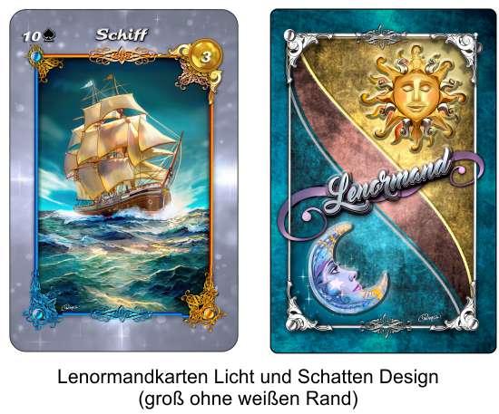 Lenormandkarten Licht und Schatten Design