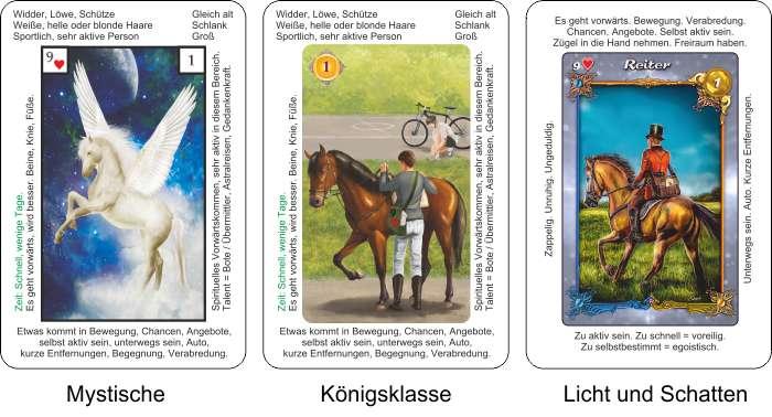 Lenormandkarten im Vergleich