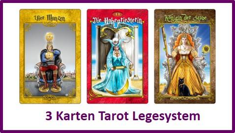 3-Karten-Tarot-Legesystem